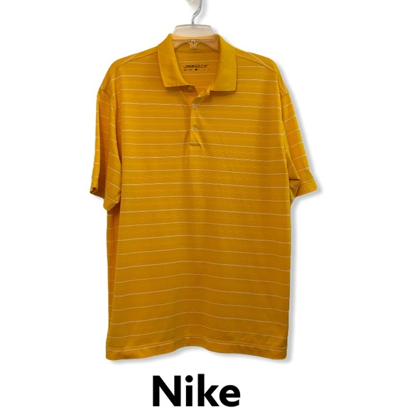 Men's Nike Golf DriFit Polo Shirt Yellow Large